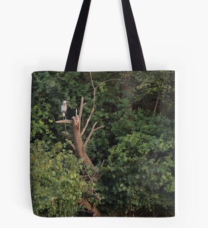 Great Blue Heron in Tree Tote Bag