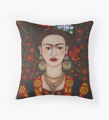 I am Obsessed with Frida T-shirt Throw Pillow