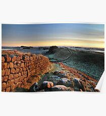 Cuddys Crag on Hadrians Wall -c10 Poster