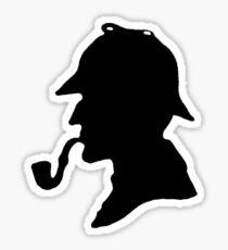Sherlock Holmes Silhouette Sticker