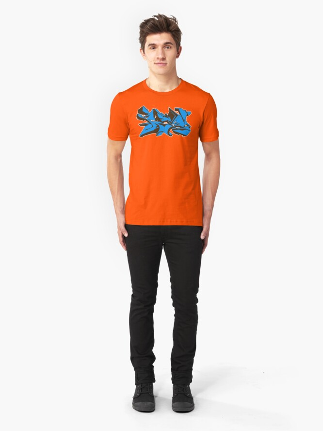 Alternate view of Style graffiti Blue Slim Fit T-Shirt