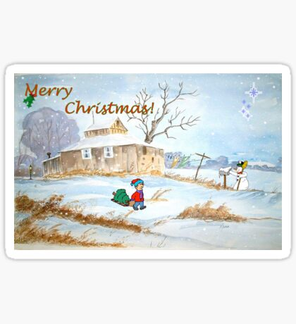 Merry Christmas! Sticker