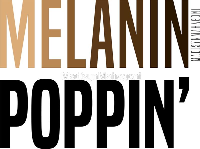 """MELANIN POPPIN'"" Stickers by MadisynMahagoni | Redbubble"