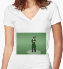 the green hornet Women's Fitted V-Neck T-Shirt