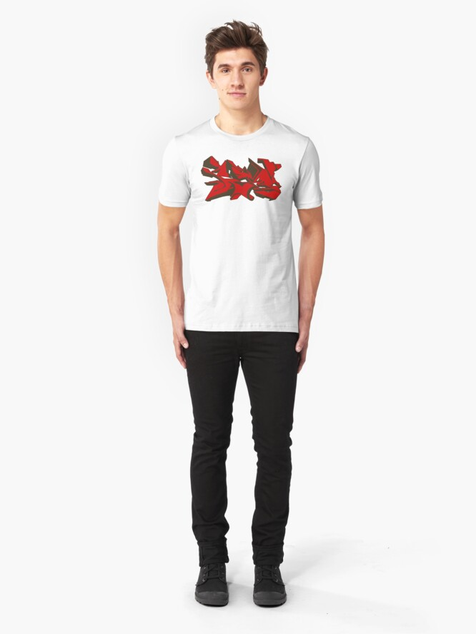 Alternate view of Style graffiti Red Slim Fit T-Shirt