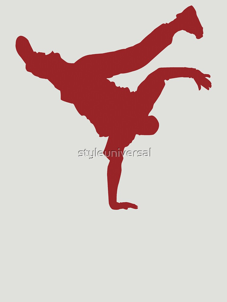 BBOY pose red by styleuniversal