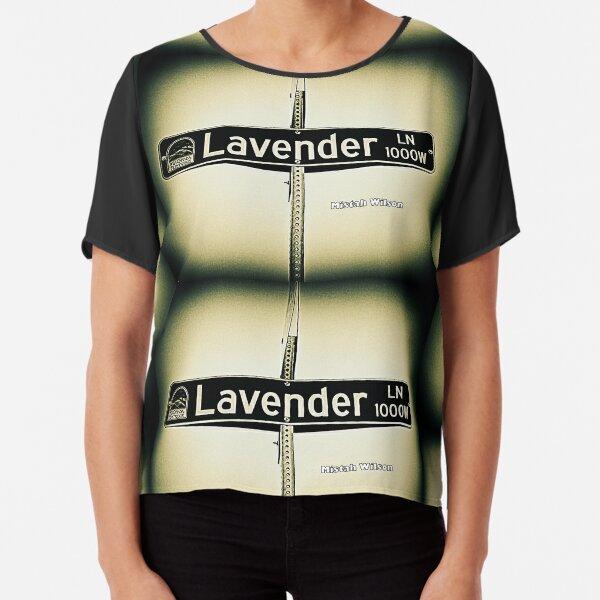 Lavender Lane, La Cañada Flintridge, CA by Mistah Wilson Chiffon Top