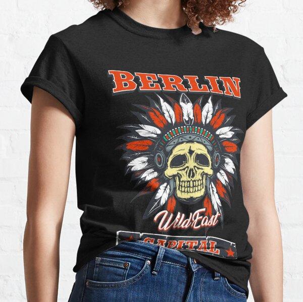 Berlin das Wild East Design mit dem Totenkopf Indianer Classic T-Shirt