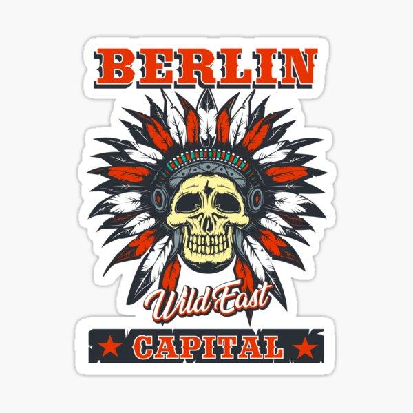 Berlin das Wild East Design mit dem Totenkopf Indianer Sticker