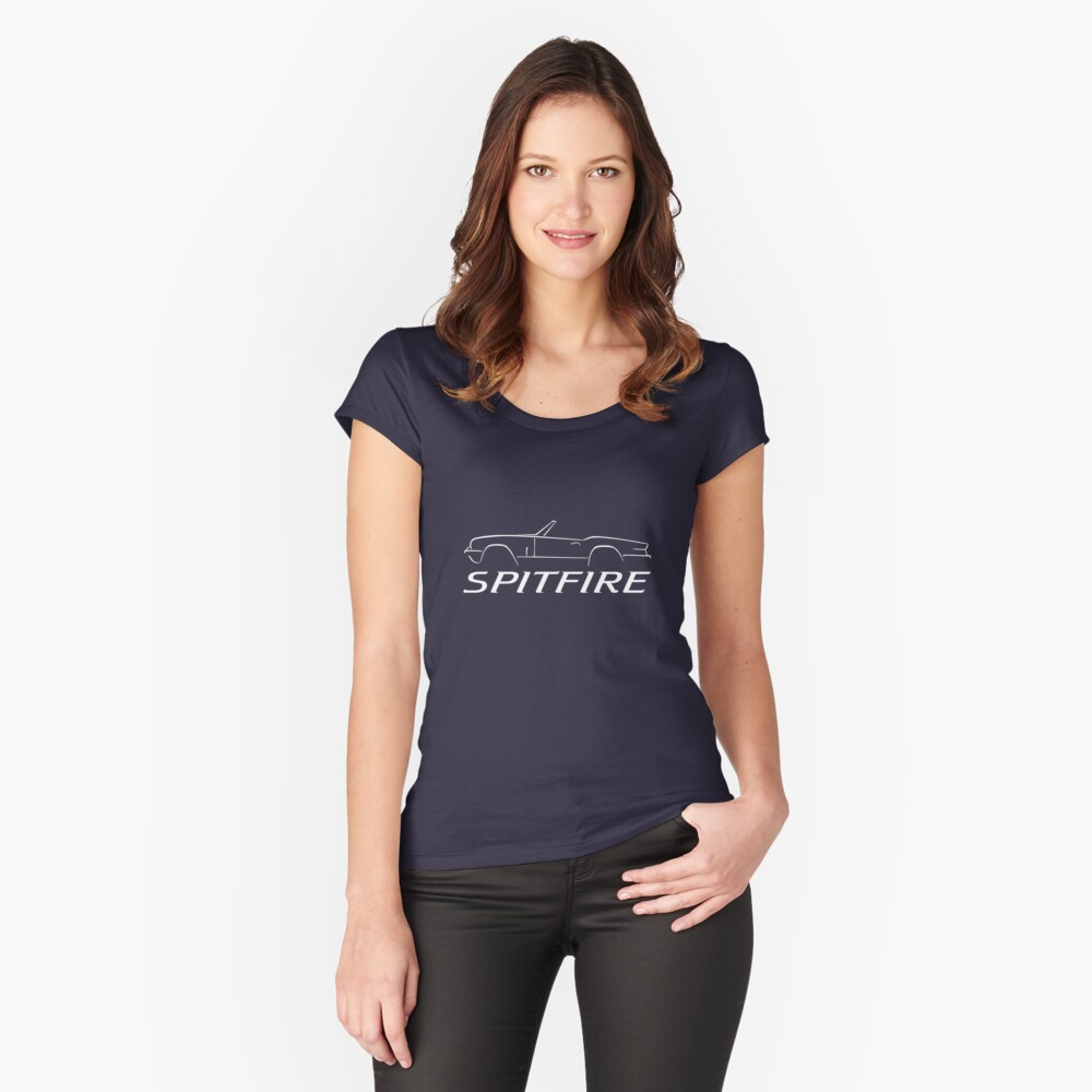 Triumph Spitfire Swash Design Women's Fitted Scoop T-Shirt Front