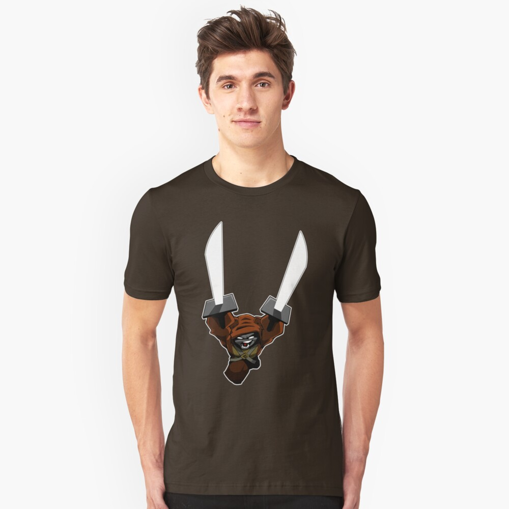 Brunzie sword Slim Fit T-Shirt