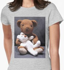 Teddy bear card/gifts/t-shirt-Psalm 145:17 Womens Fitted T-Shirt