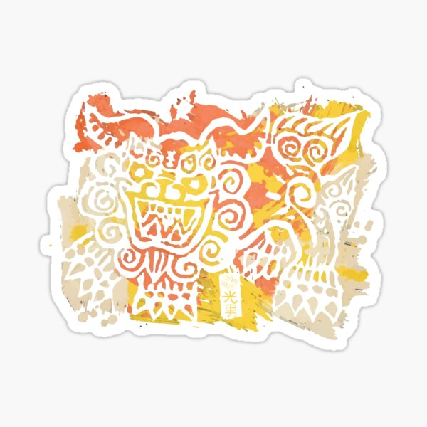 Okinawa Shisa 沖縄シーサ Design Sticker