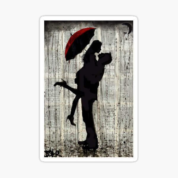 love & rain Sticker