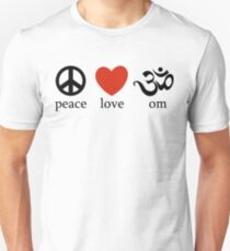 Peace Love Om Yoga T-Shirt Unisex T-Shirt