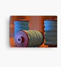 Bobbins of Yarn Blue Canvas Print