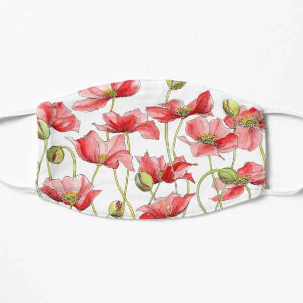 Red Poppies, Illustration Mask