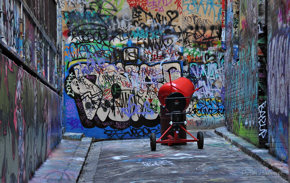 The Red Concrete Mixer by Peter Hammer