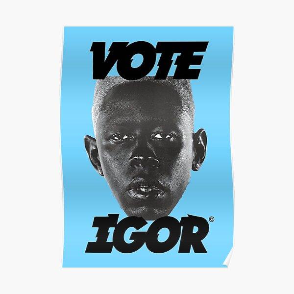 VOTE IGOR BLUE Poster