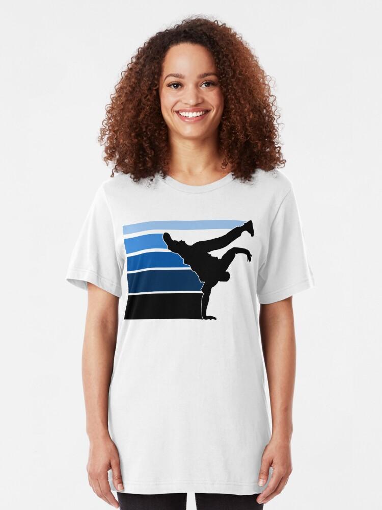 Alternate view of BBOY lines Blu/blk Slim Fit T-Shirt