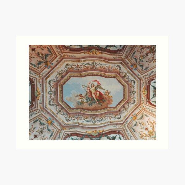 Painted Villa Ceiling  Art Print