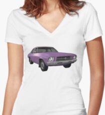 Holden HQ Kingswood - Purple Women's Fitted V-Neck T-Shirt
