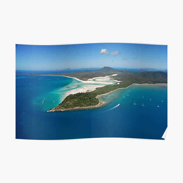 Whitehaven Beach, Tongue Point and Hill Inlet Poster