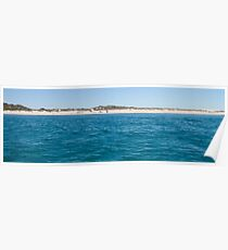 Sandy Cape beach panorama Poster