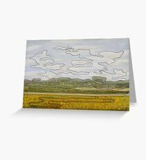 One-line landscape Greeting Card