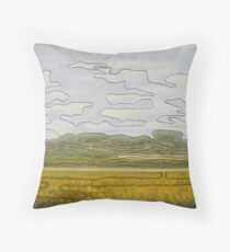 One-line landscape Throw Pillow