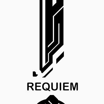 Requiem Halo 4 Shirt - Black Logo by sltPoison