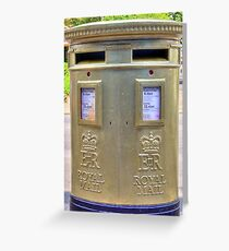 Gold Postbox Greeting Card