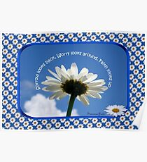 Faith Looks Up ~ Daisies! Poster
