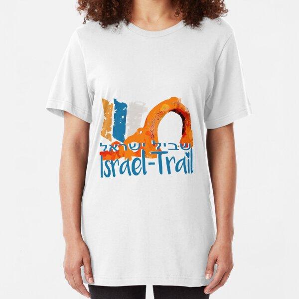 Israel National Trail Kibbuz Dan Shvil Israel blue Slim Fit T-Shirt