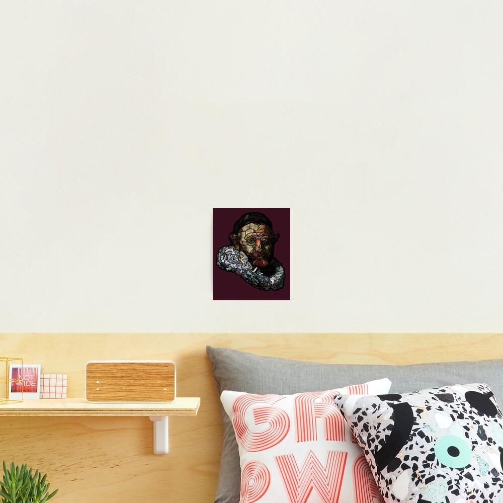 Digital collage after portrait of Johannes Wttenbogaert door Rembrandt van Rijn Photographic Print