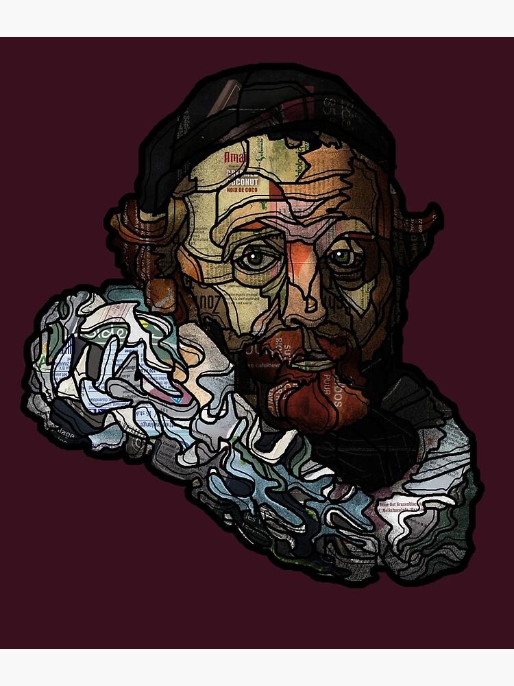 Digital collage after portrait of Johannes Wttenbogaert door Rembrandt van Rijn by Packeredo