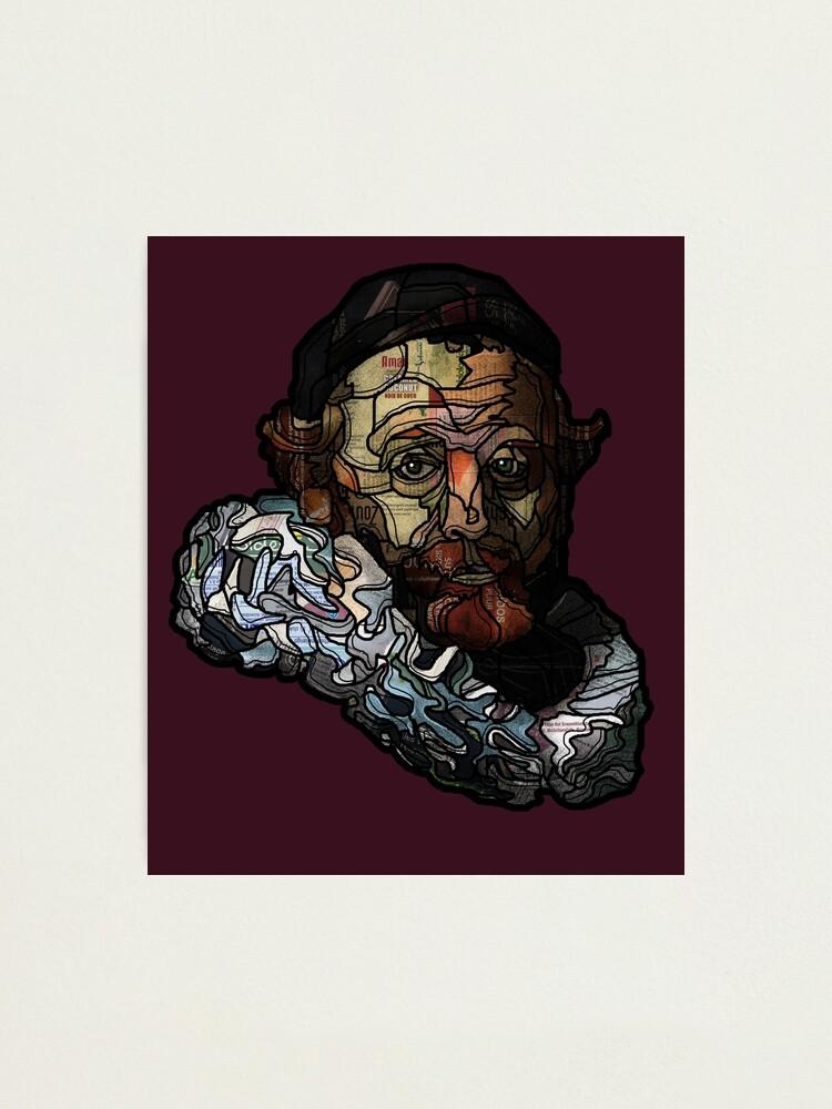 Alternate view of Digital collage after portrait of Johannes Wttenbogaert door Rembrandt van Rijn Photographic Print