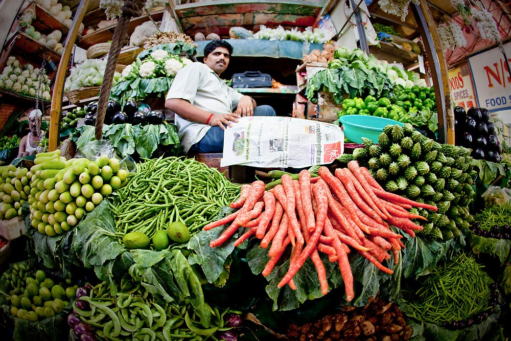 crawford market, India, Mumbai, vegetable by Heather Buckley