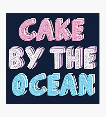 Cake by the Ocean Dark Photographic Print