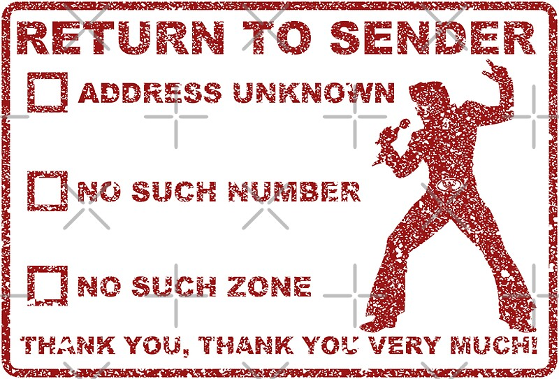 Quot Rock King Return To Sender Stamp Quot Stickers By Pikori