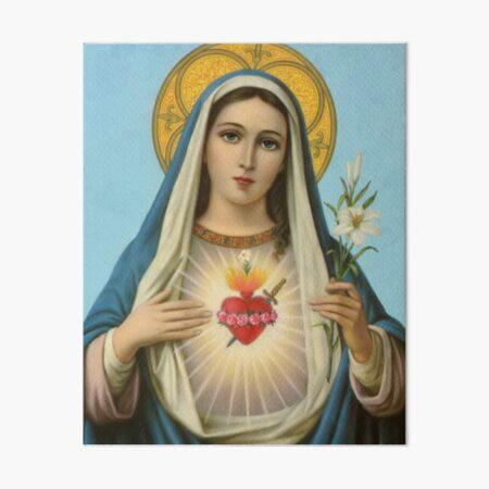Virgin Mary  Art Board Print