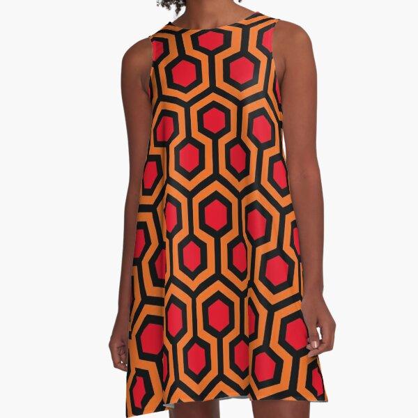Das leuchtende Teppichmuster A-Linien Kleid