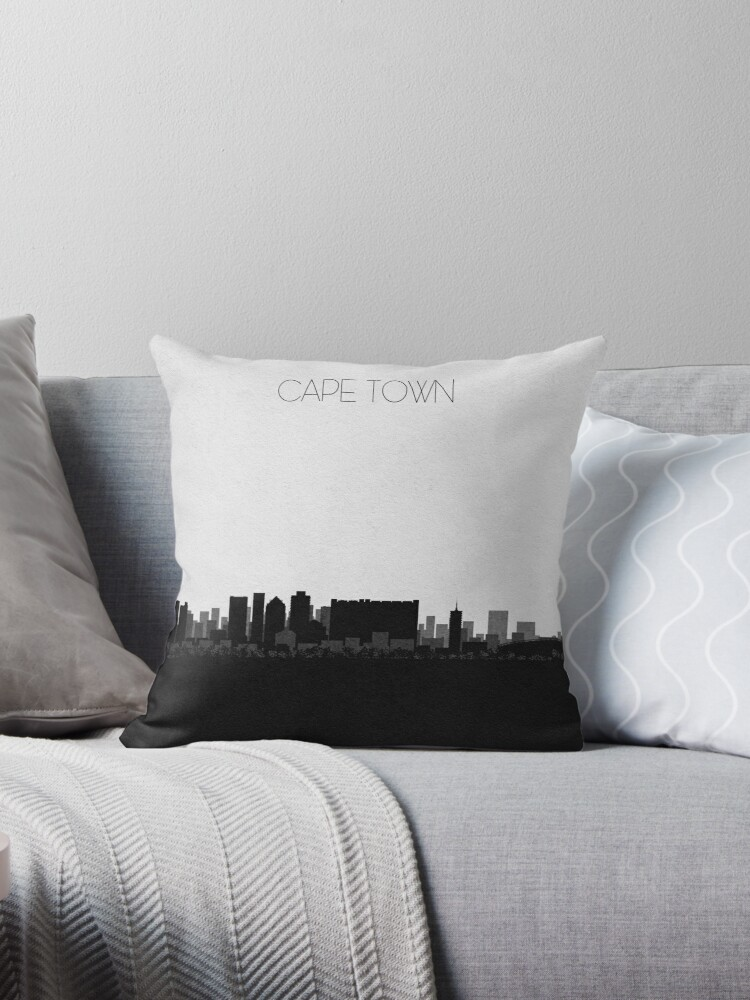 Travel Posters Destination Cape Town Throw Pillow By Geekmywall Redbubble