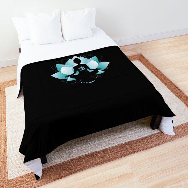 Blue Lotus Blossom Blue Toned Comforter