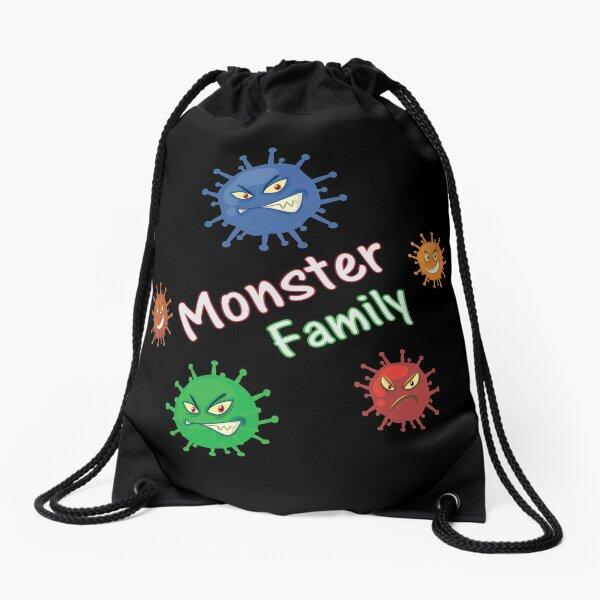 corona monster family  Drawstring Bag
