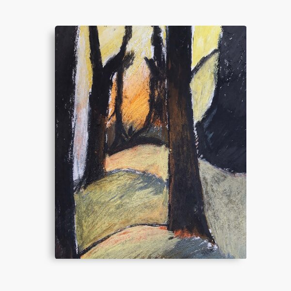 Forest and sunset Canvas Print