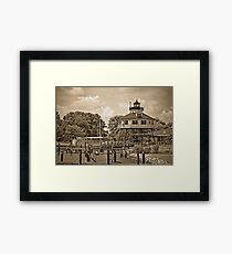 Drum Point Lighthouse - Calvert Marine Museum - Maryland U.S.A. Framed Print