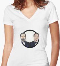 Adam and Joe Women's Fitted V-Neck T-Shirt