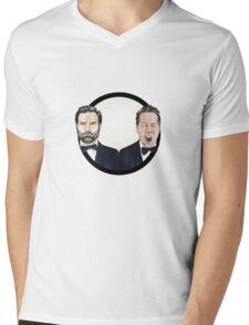 Adam and Joe Mens V-Neck T-Shirt