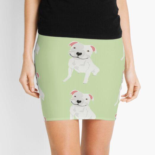 Shiny, Happy Pitbull Smiling BIG Mini Skirt